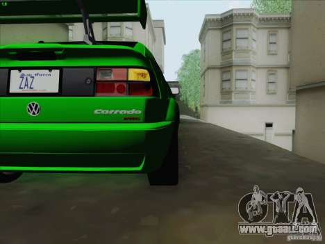 Volkswagen Corrado 1995 for GTA San Andreas inner view