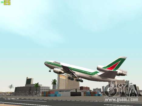 McDonell Douglas DC-10-30 Alitalia for GTA San Andreas bottom view