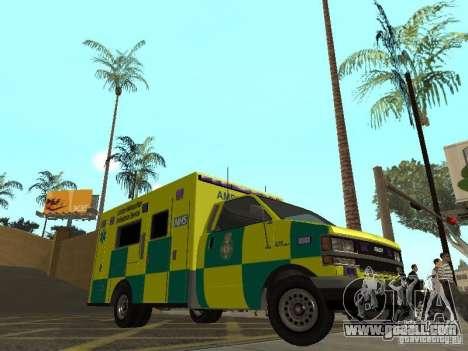 London Ambulance for GTA San Andreas left view