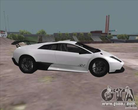 Lamborghini Murcielago LP670-4 SV for GTA San Andreas back view