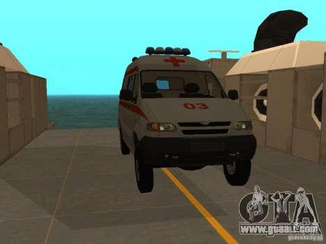 UAZ Simba SC ambulance for GTA San Andreas right view