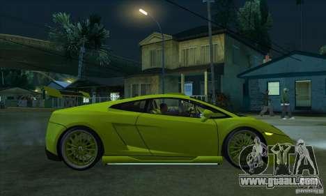 Lamborghini Gallardo LP560-4 Hamann for GTA San Andreas back view