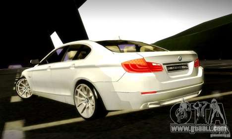 BMW 550i F10 for GTA San Andreas inner view