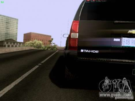 Chevrolet Tahoe 2009 Unmarked for GTA San Andreas inner view