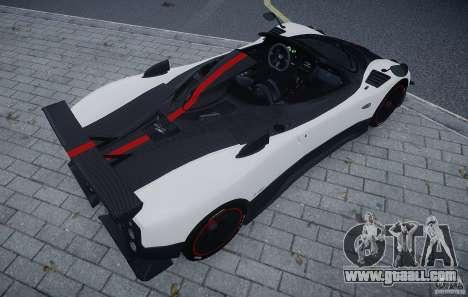 Pagani Zonda Cinque Roadster for GTA 4 back view