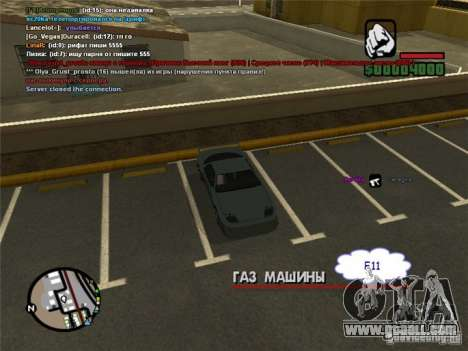 Steer your car anywhere for GTA San Andreas