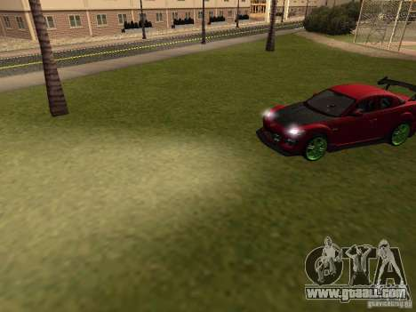 Mazda RX-8 R3 Tuned 2011 for GTA San Andreas upper view
