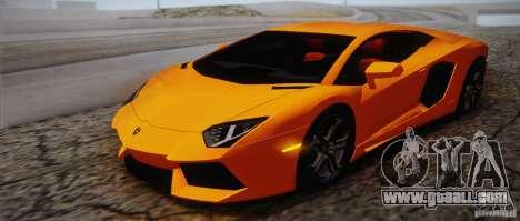Lamborghini Aventador LP700-4 Final for GTA San Andreas interior