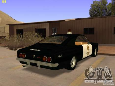 Chevrolet Opala Police for GTA San Andreas left view