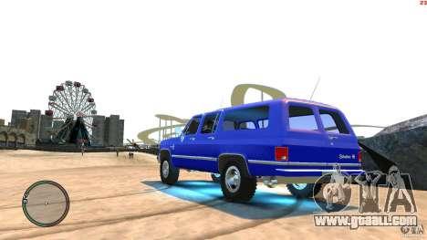 Chevrolet Suburban 1986 for GTA 4 left view
