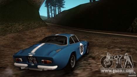 Renault Alpine A110 1600S Rally for GTA San Andreas right view