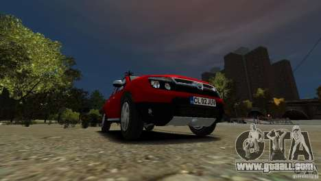 Dacia Duster SUV 4x4 2010 for GTA 4 inner view