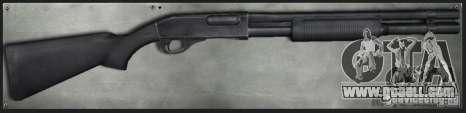 M870 Black for GTA San Andreas