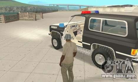 Chevrolet Blazer Sheriff Edition for GTA San Andreas inner view