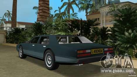 Aston Martin Lagonda (I) 5.3 (1976-1997) for GTA Vice City back left view
