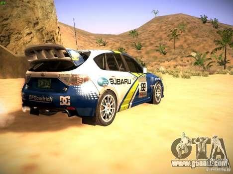 Subaru impreza Tarmac Rally for GTA San Andreas right view