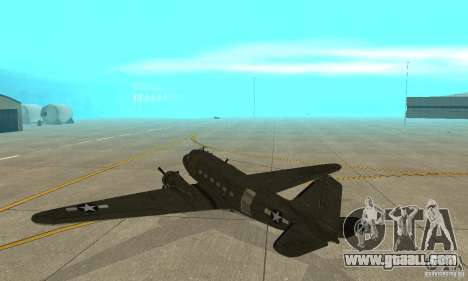 C-47 Skytrain for GTA San Andreas right view
