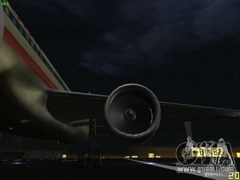 Airbus A320 for GTA San Andreas side view