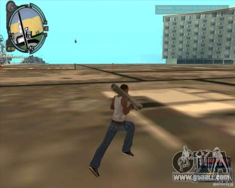 S.T.A.L.K.E.R. Call of Pripyat HUD for SA v1.0 for GTA San Andreas sixth screenshot