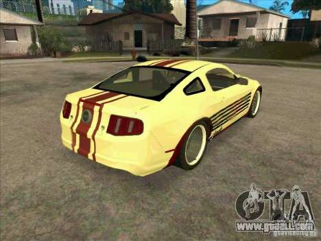 Ford Mustang Jade from NFS WM for GTA San Andreas right view