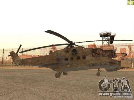 Mi-24 p Desert Camo for GTA San Andreas