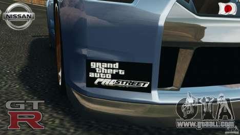 Nissan GT-R 35 rEACT v1.0 for GTA 4 inner view