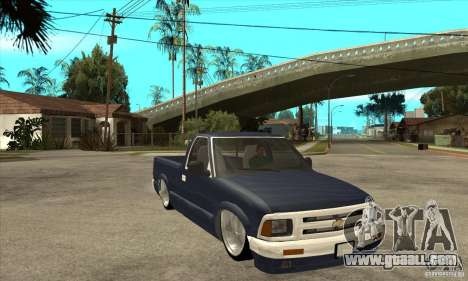Chevrolet S-10 1996 Draggin for GTA San Andreas back view