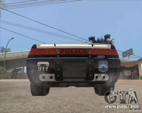 Police NFS UC for GTA San Andreas back view
