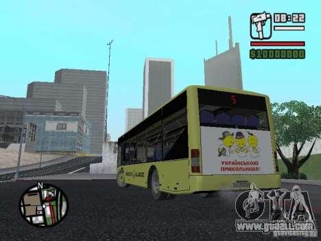 LAZ Presented (SitiLAZ 10) for GTA San Andreas back left view