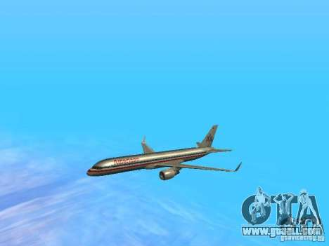Boeing 757-200 American Airlines for GTA San Andreas upper view