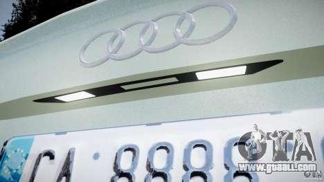 Audi RS6 2010 for GTA 4 inner view