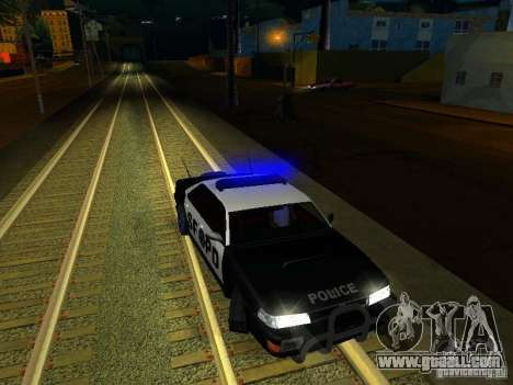 San-Fierro Sultan Copcar for GTA San Andreas upper view