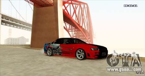 Nissan Skyline R34 Evil Empire for GTA San Andreas right view