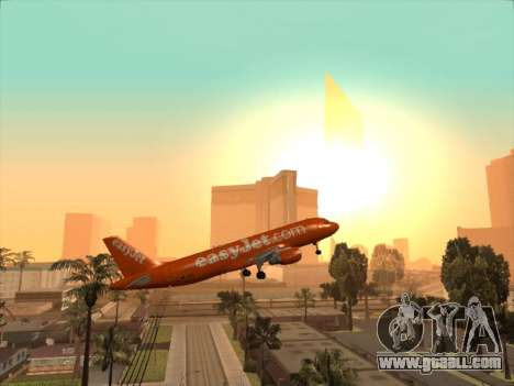 Airbus A320-214 EasyJet 200th Plane for GTA San Andreas upper view