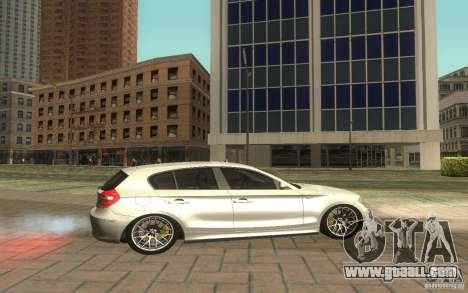BMW 120i for GTA San Andreas left view