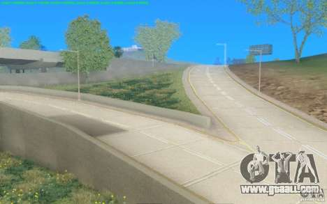 Concrete roads of Los Santos Beta for GTA San Andreas second screenshot
