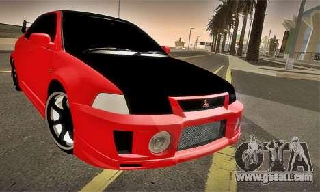 Mitsubishi Lancer Evolution 6 for GTA San Andreas upper view