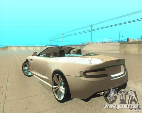Aston Martin DBS Volante 2009 for GTA San Andreas left view