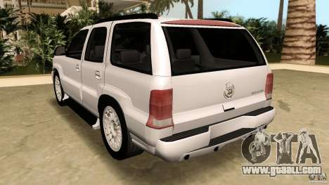 Cadillac Escalade for GTA Vice City side view