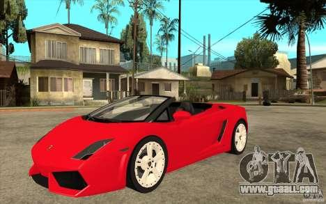 Lamborghini Gallardo LP560 Spider for GTA San Andreas