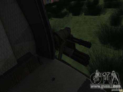 Huey helicopter from call of duty black ops for GTA San Andreas back left view