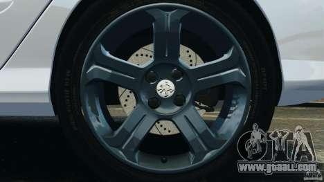 Peugeot 308 GTi 2011 Police v1.1 for GTA 4 bottom view