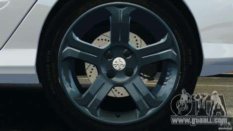 Peugeot 308 GTi 2011 Taxi v1.1 for GTA 4 bottom view