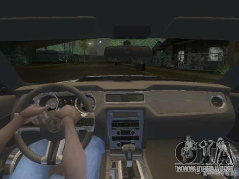 Ford Mustang 2011 GT for GTA San Andreas interior
