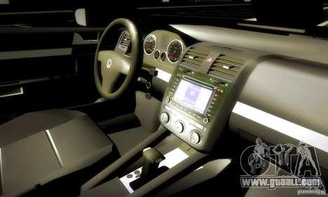 Volkswagen Golf Police for GTA San Andreas inner view