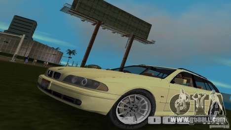BMW 5S Touring E39 for GTA Vice City back left view