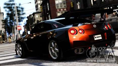 Nissan GT-R R35 SpecV 2010 for GTA 4 left view