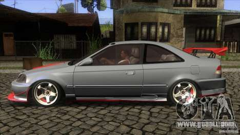 Honda Civic SI for GTA San Andreas left view