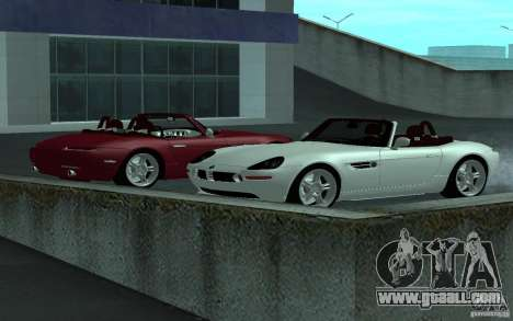 BMW Z8 for GTA San Andreas back view