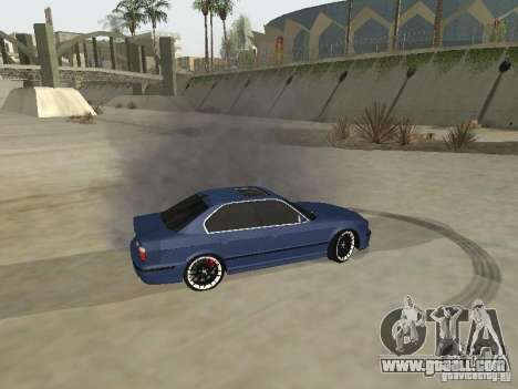 BMW M5 E34 V2.0 for GTA San Andreas back view